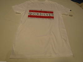 Men's Quiksilver T shirt NWT surf skate s Broadway MTO WBB0 white Regula... - $26.27
