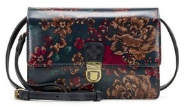 Patricia Nash Lanza Fall Tapestry Leather Crossbody Organizer Floral Fla... - $94.04