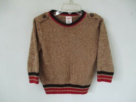 Gymboree Boy's Size 12-18 Months 100% Cotton Solid Brown Long Sleeve Sweater - $20.80