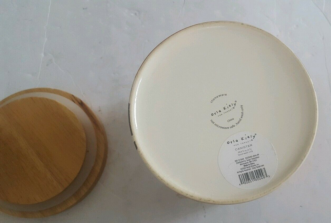 ORLA KIELY Stoneware Scribble Pear MED Canister/Storage Container Jar image 4