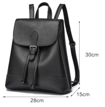 Unisex 3 Color Leather Backpacks Medium School Bookbags P239-1 - $39.00
