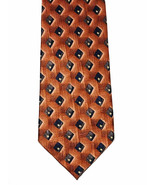 JZ Richards Elegant Copper, Blue Diamonds Silk Necktie Tie Nordstrom Mad... - $8.91