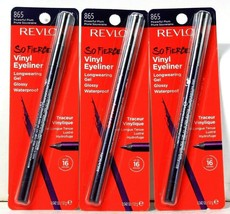 3 Count Revlon So Fierce 865 Powerful Plum Long Wear Waterproof Vinyl Ey... - $25.99