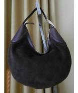 Gucci Bag Brown Leather Suede Hobo Crescent Shoulder Handbag  - $299.00