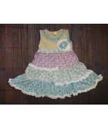NWT Boutique Girls Multi Print Floral Ruffle Dress 5-6 - $19.99