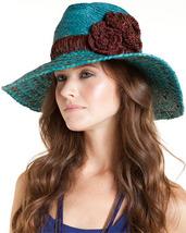 Flora Bella Nola  Raffia Hat Teal - $129.90