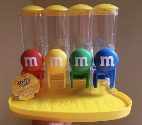 Primary image for  5 M&M's World 4 Tube Candy Dispenser Great gift New Unused