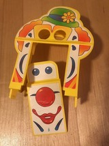 Vintage Fisher Price Little People Fun Park Parts/Repair Clown Face Door... - $5.94