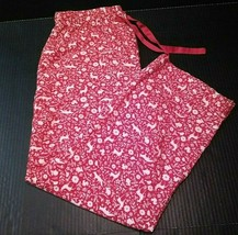 Sleep Chic Womens Pajama Pants Bottoms Sz Large Drawstring Waist Woodlan... - $13.86