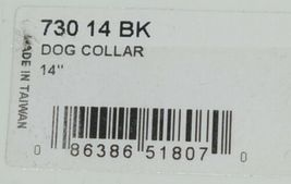 Valhoma 730 14 BK Dog Collar Black Single Layer Nylon 14 inches Package 1 image 5