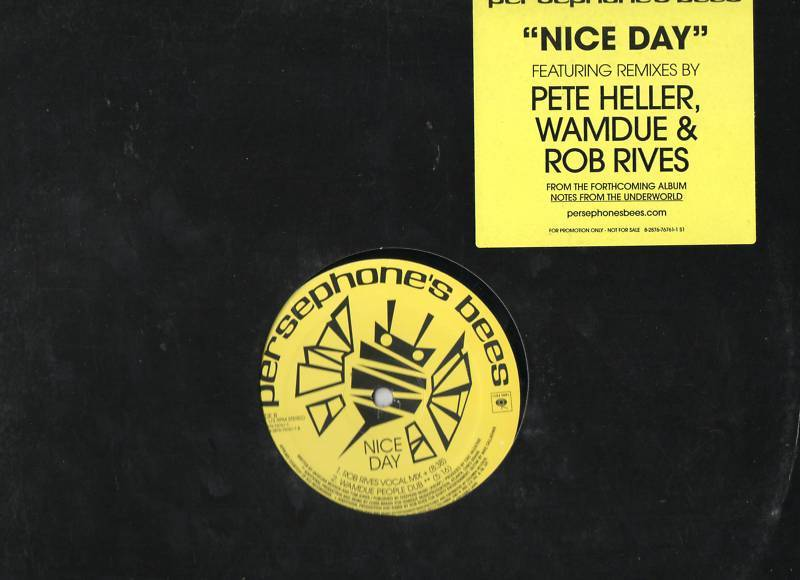 Nice Day Persephone's Bees Vinyl LP 4 Remixes Wamdu Mix