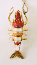 Pottery Barn lobster glass Christmas ornament - $21.99
