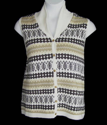 Primary image for CJ Banks Nordic Pattern Sweater Vest Sz 1X NWT