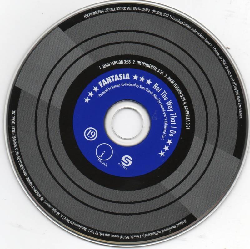 Fantasia Not The Way I Do CD 4 Track Promo CD Single