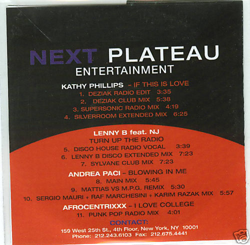 Kathy Phillips If This is Love 11 Track Promo CD Remix Andrea Paci Blowing in Me