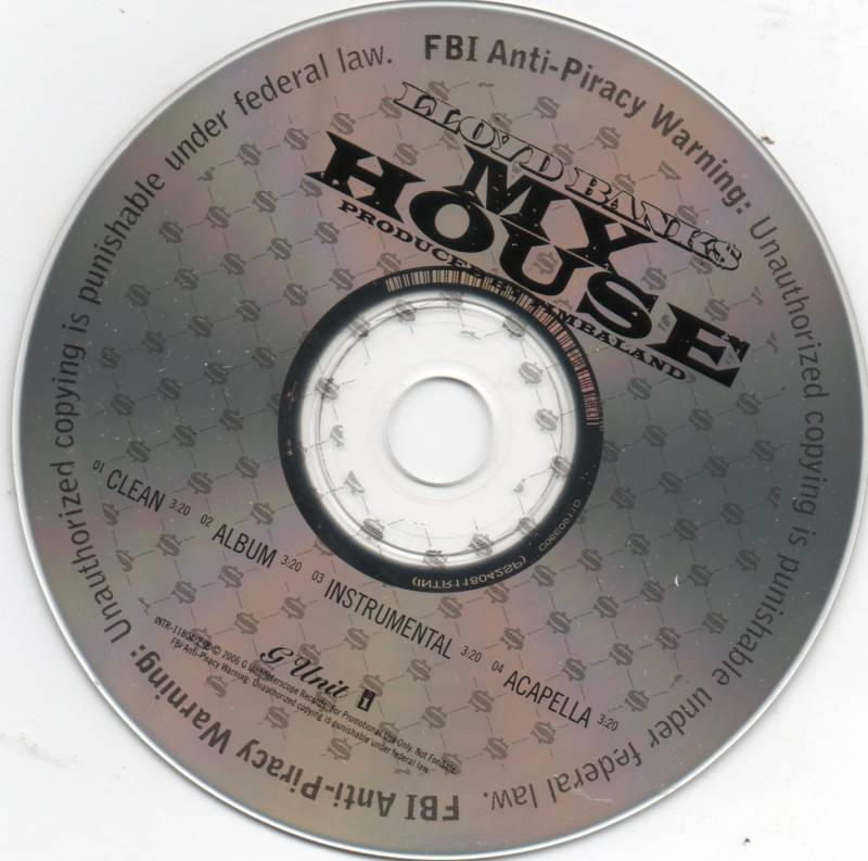 Lloyd Banks My House 4 Track Promo CD Single