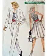 Vogue Sewing Pattern 7167 Very Easy Vintage Skirt Flared Loose Jacket 8-... - £3.66 GBP