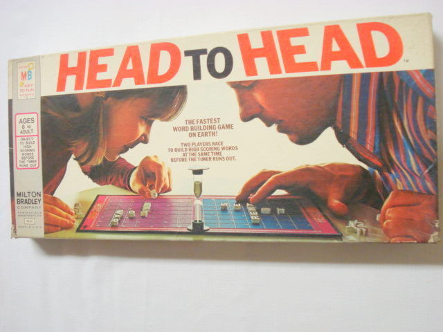 Head To Head Game Milton Bradley Game 1972 Complete