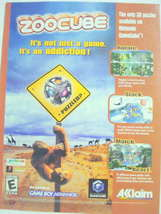 2002 Ad Video Game Zoocube by Acclaim - $7.99