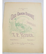 1875 Sheet Music The Old Oaken Bucket Transcription - $7.99