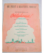 1943 Sheet Music Oh, What A Beautiful Morning - $7.99