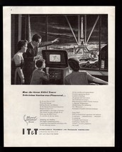 Original 1945 I T & T Eiffel Tower Television Station 1937 Exposition  P... - $9.49