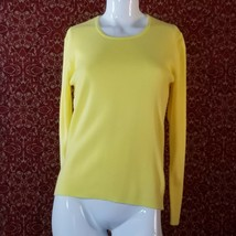 DEANS of SCOTLAND vintage Yellow sweater S (XL)  (T35-0DI0G) - $29.68
