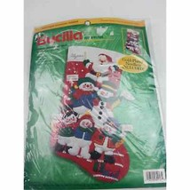 Bucilla Felt Applique Cheerful Snowmen And Santa 84258 - $34.64
