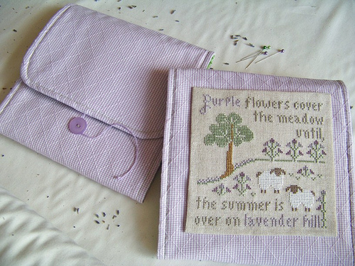 Primary image for Lavender Huswife prefinished accessory cross stitch Impie Hattie & Bea