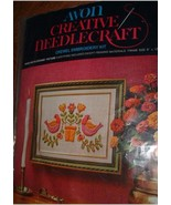 CREATIVE NEEDLECRAFT CREWEL EMBROIDERY / BIRDS & BLOSSOMS - $15.00