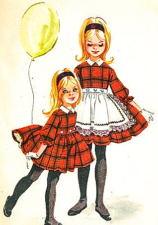 McCalls 5530 Girls Dress with Apron Sewing Pattern  Size 6 Vintage 1960s McCall's
