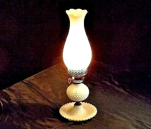 Hobnail Electric Lamp AA18 - 1011 Vintage