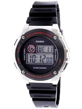 Casio W216H-1CV Men's Sport Digital Watch, Black Resin Strap - $22.00