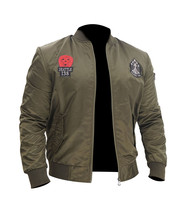 Men's MA-1 Air Force Flight Bomber US Army Green Air Force Military Bike... - $84.00
