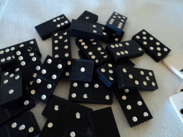 Classic Dominoes Black and White and White and Black