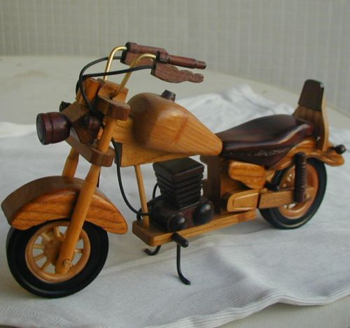 Wooden motorcycle a