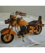 Handmade wooden  motorcyle collectible - $82.00