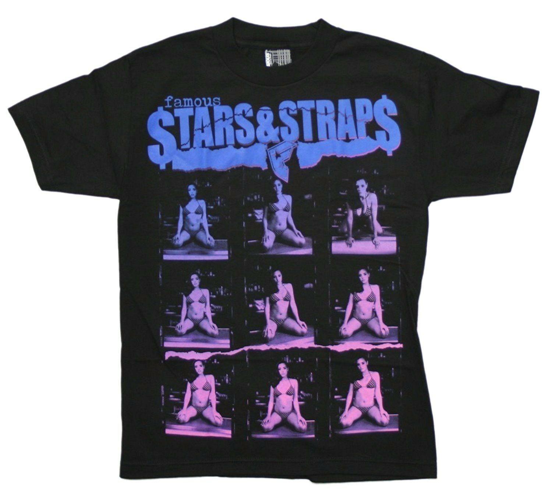 Famous Stars & Straps Herren Schwarz Bild Perfekt Kurzarm T-Shirt Klein