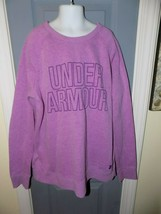 Under Armour Cold Gear Loose Fit Crew Sweatshirt Purple Size YXL Girl's EUC - $22.62