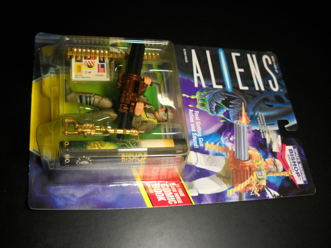 Toy aliens kenner 1992 bishop android space marine moc 01