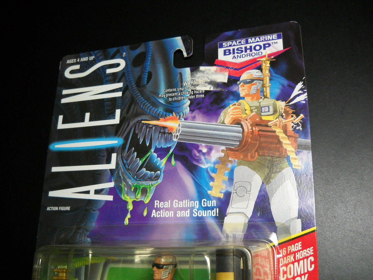 Kenner Aliens Bishop Android Space Marine 1992 Still Factory Sealed & Comic Book
