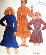 McCalls 8224 Girls Cow Girl Dress Sewing Pattern Size 10 Vintage 80s - $9.95