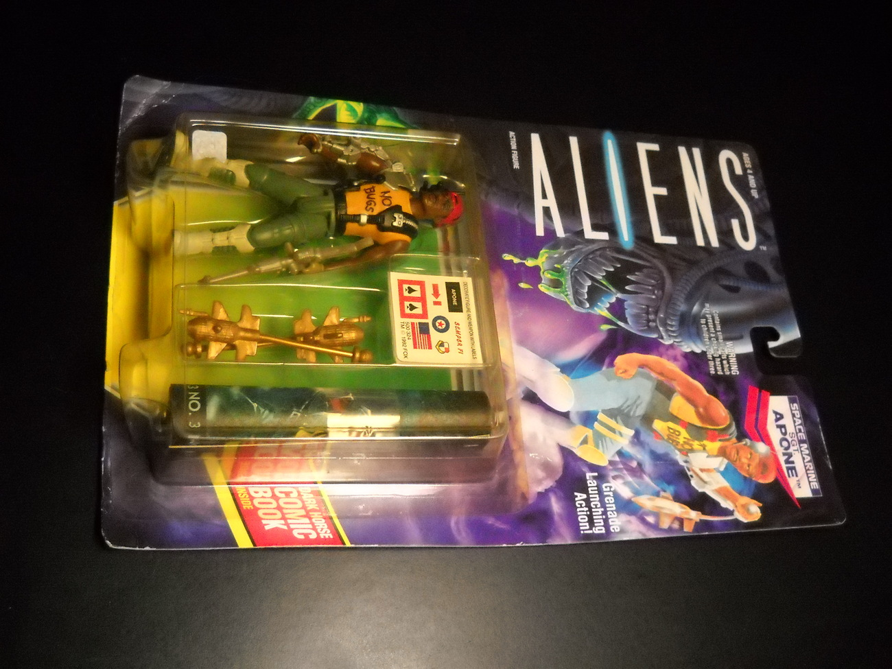 Toy aliens kenner 1992 sgt lapone space marine moc 01