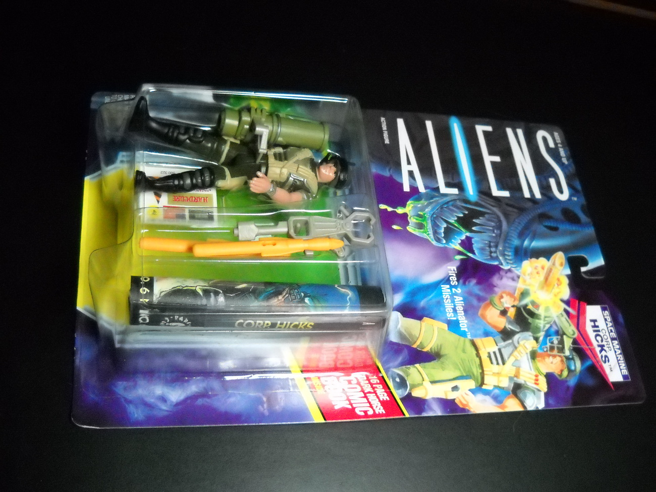 Toy aliens kenner 1992 corp hicks space marine moc 01