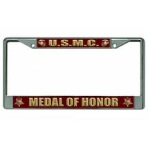 marine corps usmc medal of honor military insignia logo chrome license p... - $27.07