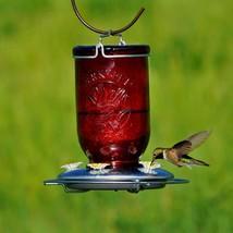 New!! Perky-Pet Hummingbird 32 oz. Glass Mason Jar Nectar Feeder 5 ports... - $30.44