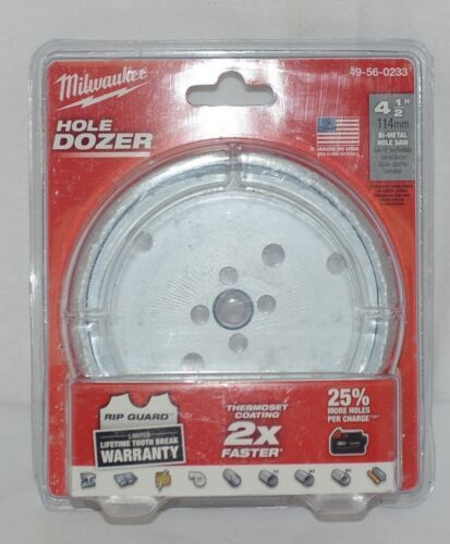 Milwaukee 49560233 Bi Metal Holesaw Hole Dozer 4 One Half Inches