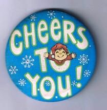Hallmark CHEERS TO YOU Elf Snowflake Vintage 1980 Holiday Christmas Roun... - $5.99