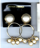 Ear Rings - (5 Pair  Costume Jewelry Clip on Ear Rings) - $17.95