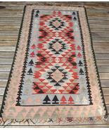 Vintage Anatolian Slit Tapestry Kilim Wool Oriental Rug 4x6 - $500.00